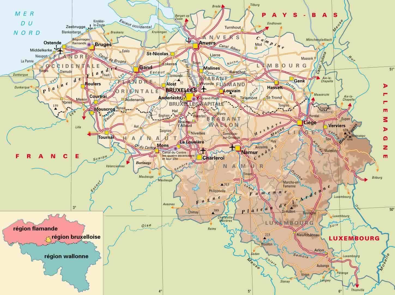 Ardennes Belgique carte - carte des ardennes en Belgique ...