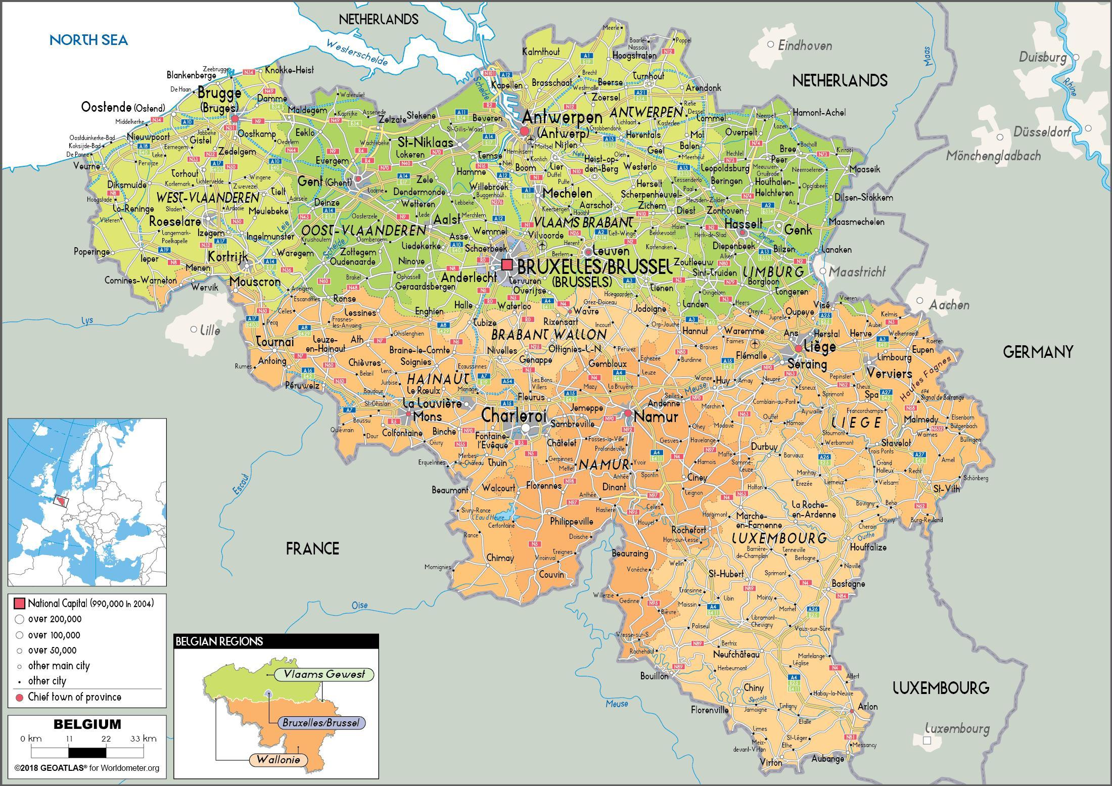 Carte Belgique Villes.Belgique Villes De La Carte Belgique Villes De La Carte